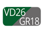 VD26/GR18 - Vert/Gris Poussière