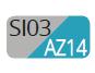 SI03/AZ14 - Silver/Turchese intenso