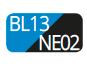 BL13/NE02 - Capri blue/Black