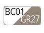 BC01/GR27 - Bianco/Tortora chiaro