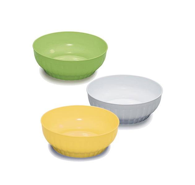 Ribbed salad-bowls ø cm 18