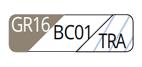 GR16/BC01/TRA - Gris tourterelle clair/Blanc/Transparent