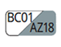 BC01/AZ18 - Blanco/Azul acero