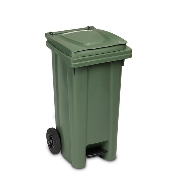 Cubo de basura con ruedas 120 lt con pedal