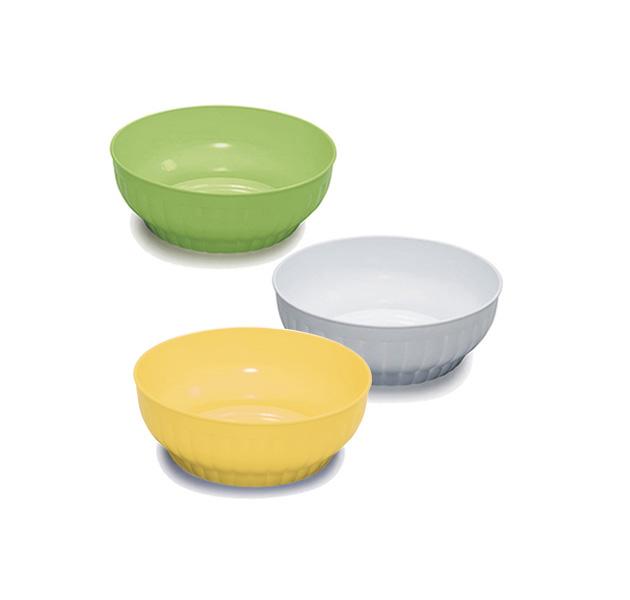 Ribbed salad-bowls ø cm 16