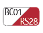 BC01/RS28 - White/Vermilion red