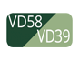 VD58/VD39 - Deep green plus/Sage green