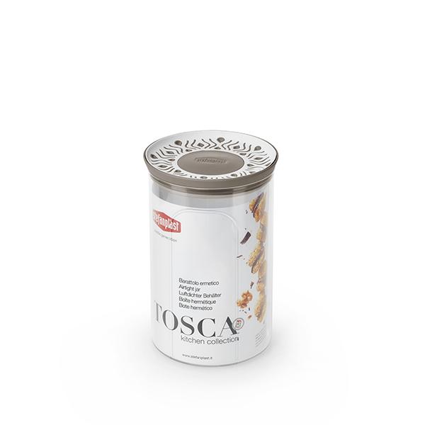 Barattolo tondo 1,2lt Tosca