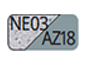 NE03/AZ18 - Granit/Stahlblau