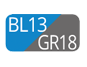 BL13/GR18 - Azul Capri/Gris Polvo