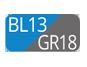 BL13/GR18 - Blu Capri/Grigio Polvere