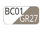 BC01/GR27 - White/Light dove grey