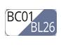 BC01/BL26 - Blanc/Palace blue
