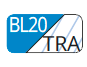 BL20/TRA - Blue cyan/transparent