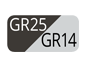 GR25/GR14 - Graphite plus/Bright light grey