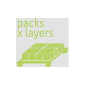 Verpackungen pro Palettenlage
