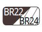 BR22/BR24 - Moka/Moka transparente