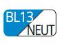 BL13/NEUT - Azul Capri/Neutro