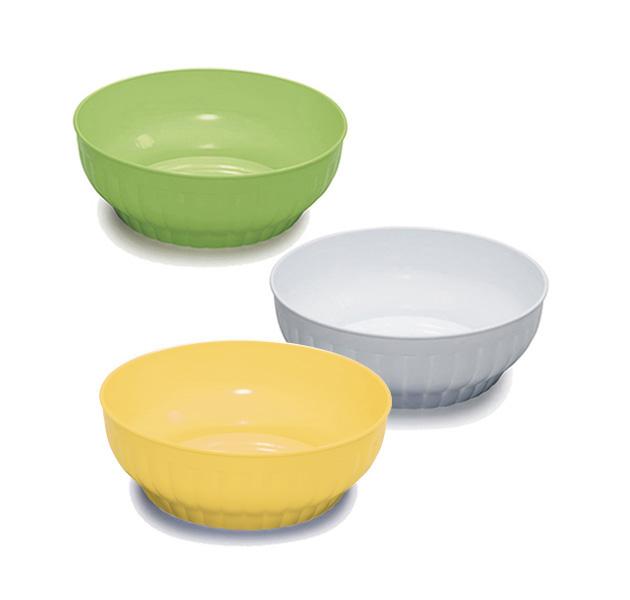 Ribbed salad-bowls ø cm 22