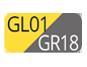 GL01/GR18 - Gelb/Pulvergrau