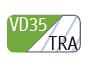 VD35/TRA - Vert pomme/transparent