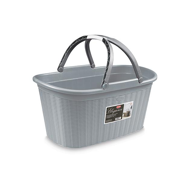 Elegance laundry basket with handles