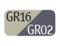 GR16/GR02 - Light dove grey/Dark grey