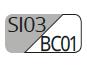 SI03/BC01 - Silver/White