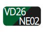 VD26/NE02 - Verde/Nero