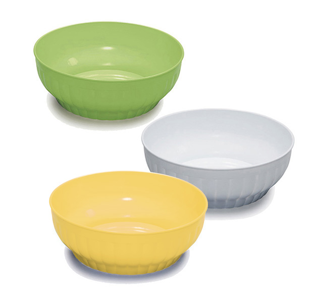 Ribbed salad-bowls ø cm 30