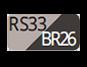 RS33/BR26 - Powder pink/Carob