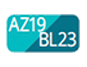 AZ19/BL23 - Niagara blue/Teal Blue