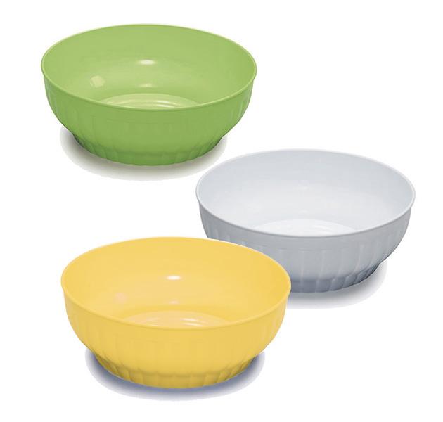 Ribbed salad-bowls ø cm 32