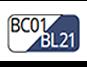 BC01/BL21 - White/Navy blue