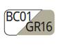 BC01/GR16 - Bianco/Tortora chiaro