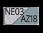NE03/AZ18 - Granit/Bleu acier