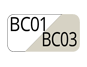 BC01/BC03 - White/Travertine White