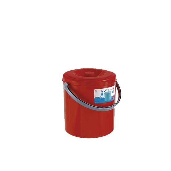 """Eureka"" dustbin with cover - 10 lt"
