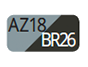 AZ18/BR26 - Steel blue/Carob