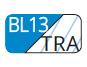 BL13/TRA - Capri blue/Transparent