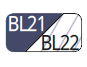 BL21/BL22 - Marineblau/Marineblau transparent