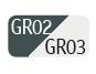 GR02/GR03 - Gris oscuro/Gris claro