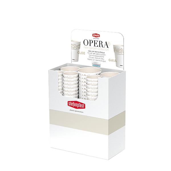 Espositore Vasi Opera ORFEO bianco