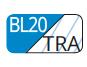 BL20/TRA - Bleu cian/transparent