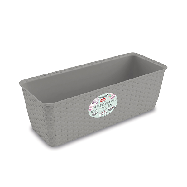 Natural flower box cm 30 with self-watering system
