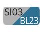 SI03/BL23 - Silver/Teal blue