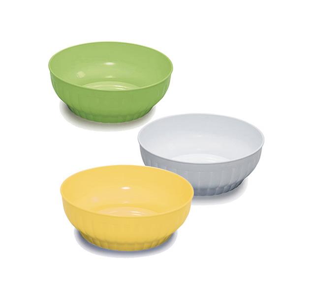 Ribbed salad-bowls ø cm 20