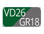VD26/GR18 - Grün/Pulvergrau