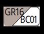 GR16/BC01 - Light dove grey/White