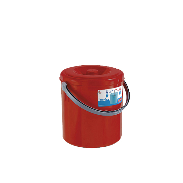 """Eureka"" dustbin with cover - 15 lt"